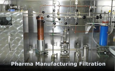 Pharmaceutical manufacturing filtration from advance filtration
