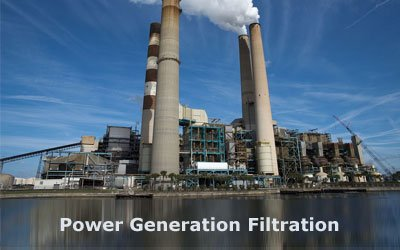 Power generation filtration from advance filtration