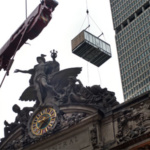 More energy-efficient cooling towers replacing five old ones atop Grand Central Terminal, NY city